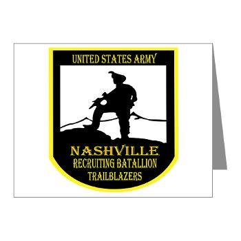 NRB - M01 - 02 - DUI - Nashville Recruiting Battalion - Note Cards (Pk of 20)