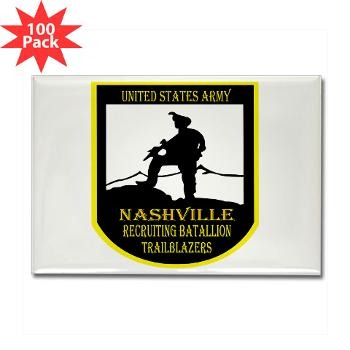NRB - M01 - 01 - DUI - Nashville Recruiting Battalion - Rectangle Magnet (100 pack)
