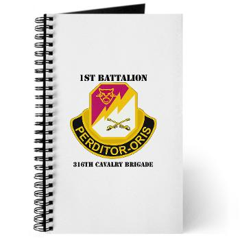 1B316CB - M01 - 02 - DUI - 1st Battalion - 316th Cavalry Brigade with Text Journal