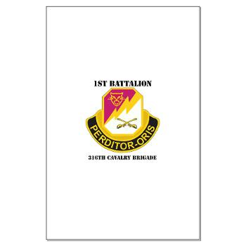 1B316CB - M01 - 02 - DUI - 1st Battalion - 316th Cavalry Brigade with Text Large Poster