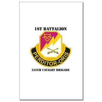 1B316CB - M01 - 02 - DUI - 1st Battalion - 316th Cavalry Brigade with Text Mini Poster Print