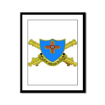 1B410FA - M01 - 02 - DUI - 1st Bn - 410th FA - Framed Panel Print
