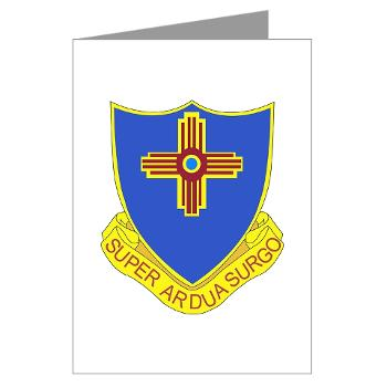 3B410ER - M01 - 02 - DUI - 3rd Bn - 410TH Engineer Regt Greeting Cards (Pk of 10)