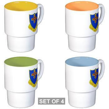 3B410ER - M01 - 03 - DUI - 3rd Bn - 410TH Engineer Regt Stackable Mug Set (4 mugs)