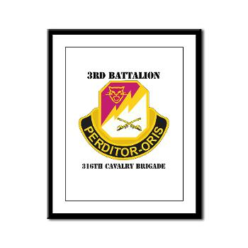 3BN316CB - M01 - 02 - DUI - 3BN - 316th Cavalry Brigade with Text - Framed Panel Print