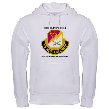 3BN316CB - A01 - 03 - DUI - 3BN - 316th Cavalry Brigade with Text - Hooded Sweatshirt