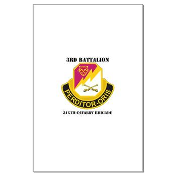 3BN316CB - M01 - 02 - DUI - 3BN - 316th Cavalry Brigade with Text - Large Poster