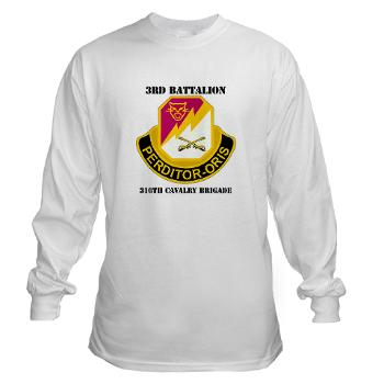 3BN316CB - A01 - 03 - DUI - 3BN - 316th Cavalry Brigade with Text - Long Sleeve T-Shirt