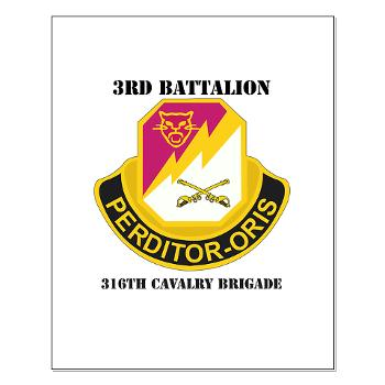 3BN316CB - M01 - 02 - DUI - 3BN - 316th Cavalry Brigade with Text - Small Poster