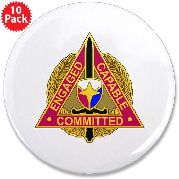 "ECC - M01 - 01 - DUI - Expeditionary Contracting Command - 3.5"" Button (10 pack)"