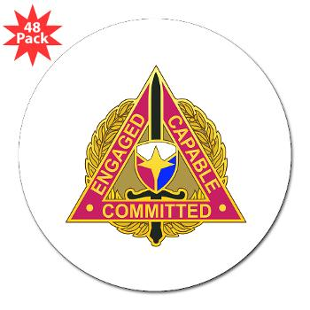 "ECC - M01 - 01 - DUI - Expeditionary Contracting Command - 3"" Lapel Sticker (48 pk)"