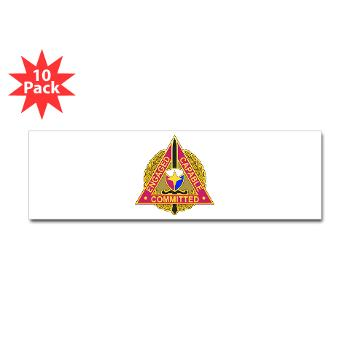 ECC - M01 - 01 - DUI - Expeditionary Contracting Command - Sticker (Bumper 10 pk)