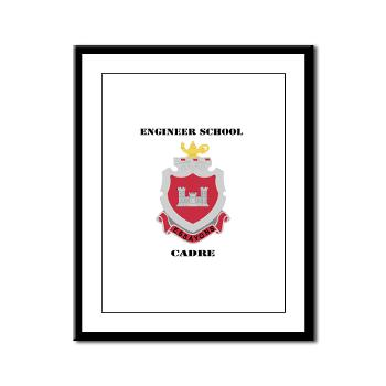 ESC - M01 - 02 - DUI - Engineer School Cadre with Text Framed Panel Print