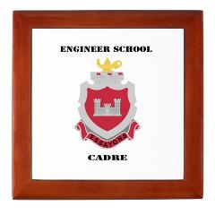 ESC - M01 - 03 - DUI - Engineer School Cadre with Text Keepsake Box