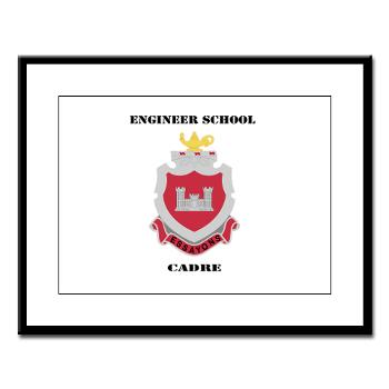 ESC - M01 - 02 - DUI - Engineer School Cadre with Text Large Framed Print