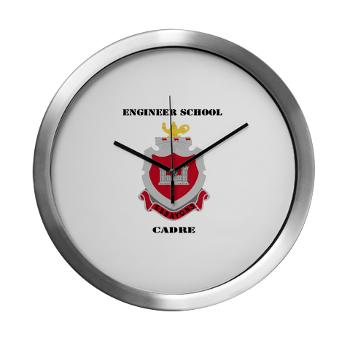 ESC - M01 - 03 - DUI - Engineer School Cadre with Text Modern Wall Clock