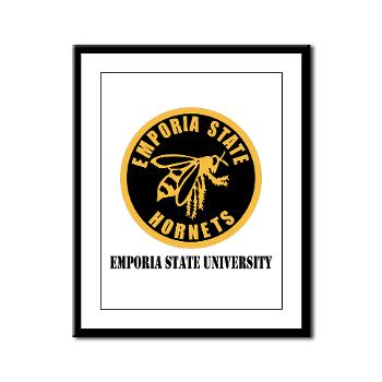 ESU - M01 - 02 - SSI - ROTC - Emporia State University with Text - Framed Panel Print