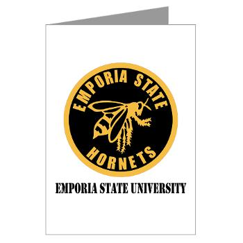 ESU - M01 - 02 - SSI - ROTC - Emporia State University with Text - Greeting Cards (Pk of 20)