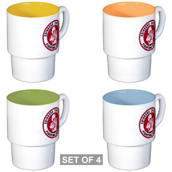 EUP - M01 - 03 - SSI - ROTC - Edinboro University of Pennsylvania - Stackable Mug Set (4 mugs)
