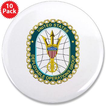 "EUSCGDOPSGP - M01 - 01 - EMBLEM - USCG - DEPLOYABLE OPS GP - 3.5"" Button (10 pack)"