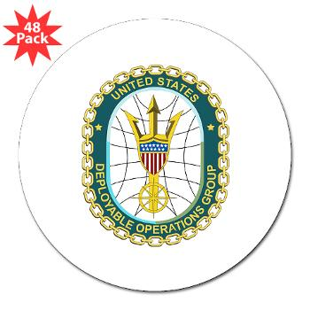 "EUSCGDOPSGP - M01 - 01 - EMBLEM - USCG - DEPLOYABLE OPS GP - 3"" Lapel Sticker (48 pk)"