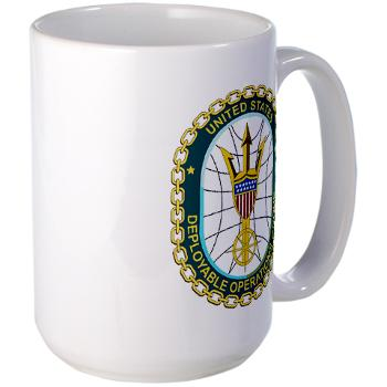 EUSCGDOPSGP - M01 - 03 - EMBLEM - USCG - DEPLOYABLE OPS GP - Large Mug