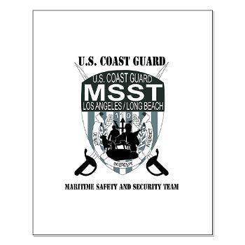 EUSCGMSSTLALB - M01 - 02 - EMBLEM - USCG - MSST - LALB with text - Small Poster