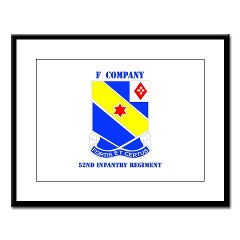 FC52IR - M01 - 02 - DUI - F Company - 52nd Infantry Regiment Large Framed Print