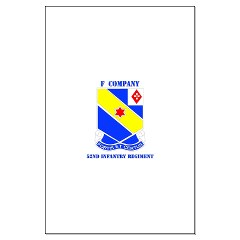 FC52IR - M01 - 02 - DUI - F Company - 52nd Infantry Regiment Large Poster