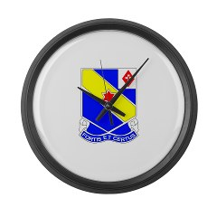 FC52IR - M01 - 03 - DUI - F Company - 52nd Infantry Regiment Large Wall Clock