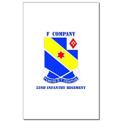FC52IR - M01 - 02 - DUI - F Company - 52nd Infantry Regiment Mini Poster Print