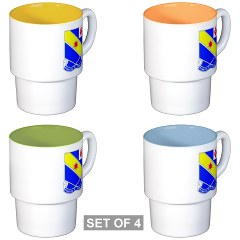 FC52IR - M01 - 03 - DUI - F Company - 52nd Infantry Regiment Stackable Mug Set (4 mugs)