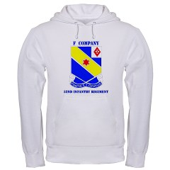 FC52IR - A01 - 03 - DUI - F Company - 52nd Infantry Regiment with text Hooded Sweatshirt