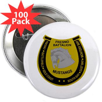 "FRB - M01 - 01 - DUI - Fresno Recruiting Battalion ""Mustangs"" - 2.25"" Button (100 pack)"