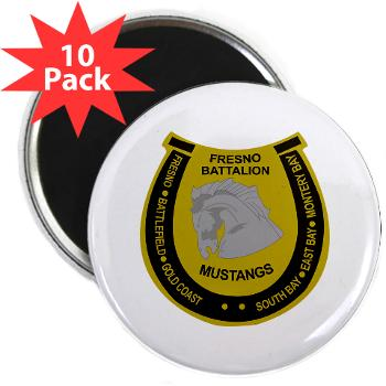 "FRB - M01 - 01 - DUI - Fresno Recruiting Battalion ""Mustangs"" - 2.25 Magnet (10 pack)"