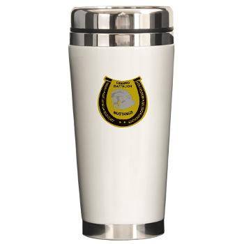 "FRB - M01 - 03 - DUI - Fresno Recruiting Battalion ""Mustangs"" - Ceramic Travel Mug"