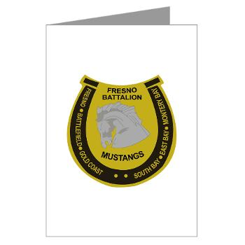 "FRB - M01 - 02 - DUI - Fresno Recruiting Battalion ""Mustangs"" - Greeting Cards (Pk of 10)"