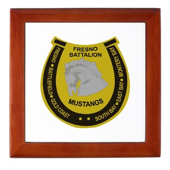 "FRB - M01 - 03 - DUI - Fresno Recruiting Battalion ""Mustangs"" - Keepsake Box"