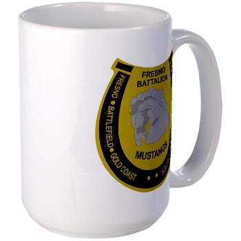 "FRB - M01 - 03 - DUI - Fresno Recruiting Battalion ""Mustangs"" - Large Mug"