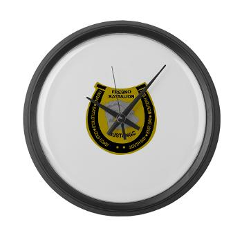 "FRB - M01 - 03 - DUI - Fresno Recruiting Battalion ""Mustangs"" - Large Wall Clock"