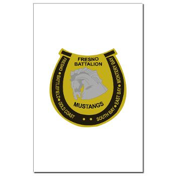 "FRB - M01 - 02 - DUI - Fresno Recruiting Battalion ""Mustangs"" - Mini Poster Print"
