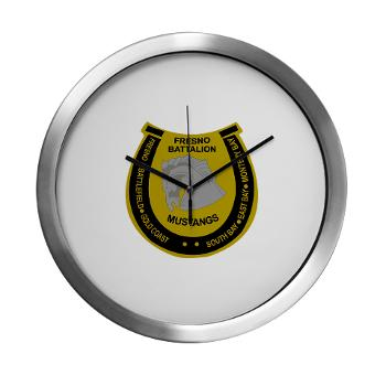 "FRB - M01 - 03 - DUI - Fresno Recruiting Battalion ""Mustangs"" - Modern Wall Clock"