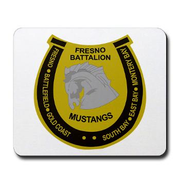 "FRB - M01 - 03 - DUI - Fresno Recruiting Battalion ""Mustangs"" - Mousepad"