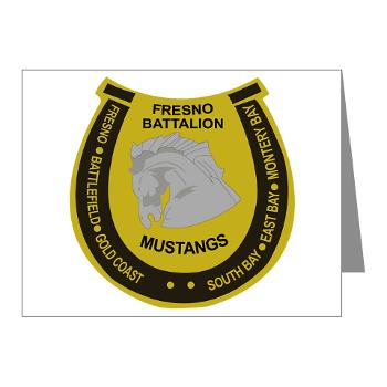 "FRB - M01 - 02 - DUI - Fresno Recruiting Battalion ""Mustangs"" - Note Cards (Pk of 20)"