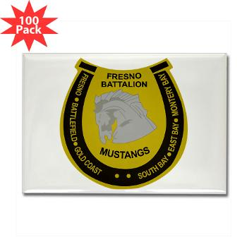 "FRB - M01 - 01 - DUI - Fresno Recruiting Battalion ""Mustangs"" - Rectangle Magnet (100 pack)"