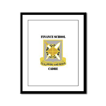 FSC - M01 - 02 - DUI - Finance School Cadre with Text Framed Panel Print