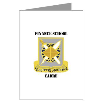 FSC - M01 - 02 - DUI - Finance School Cadre with Text Greeting Cards (Pk of 20)