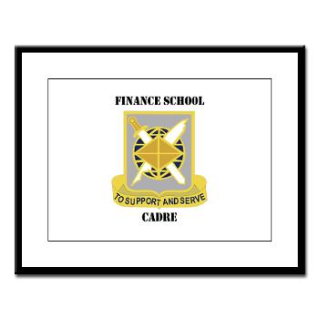 FSC - M01 - 02 - DUI - Finance School Cadre with Text Large Framed Print
