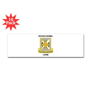 FSC - M01 - 01 - DUI - Finance School Cadre with Text Sticker (Bumper 10 pk)