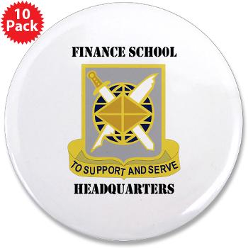 "FSH - M01 - 01 - DUI - Finance School Headquarters with Text - 3.5"" Button (10 pack)"